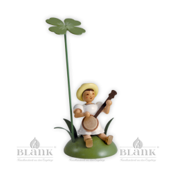 Flower Child with Clover and Banjo, sitting