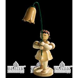 BKM 003 Blumenkind mit Glockenblume, 20 cm von Blank Kunsthandwerk, Gruenhainichen