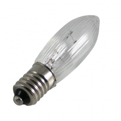 Candle shaped light bulb 55 Volt / 3 Watts for 10 sockets and art. no. LE020
