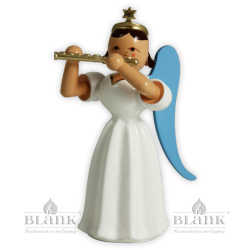 Angel with Long Pleated Robe and Piccolo, coloured