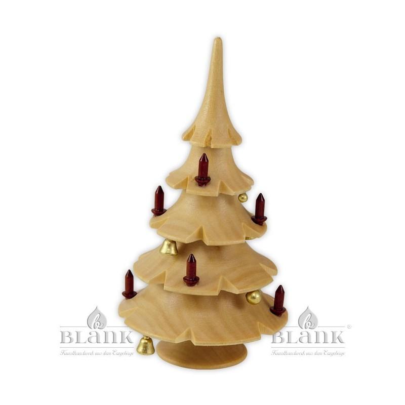 Weihnachtsbaum mit Glöckchen, natur
