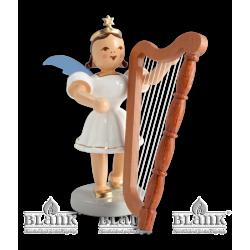 EKF 008 Kurzrockengel mit Harfe, farbig von Blank Kunsthandwerk, Gruenhainichen