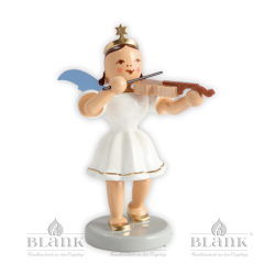 EKF 011 Kurzrockengel mit Violine, farbig von Blank Kunsthandwerk, Gruenhainichen