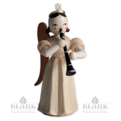 Faltenlangrockengel mit Klarinette