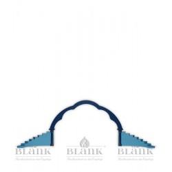 Dekorationsbeispiel Engelstufen mit Wolkenbogen, farbig