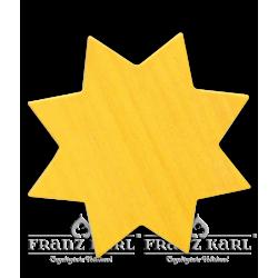 Stern, gelb, groß - 6 cm