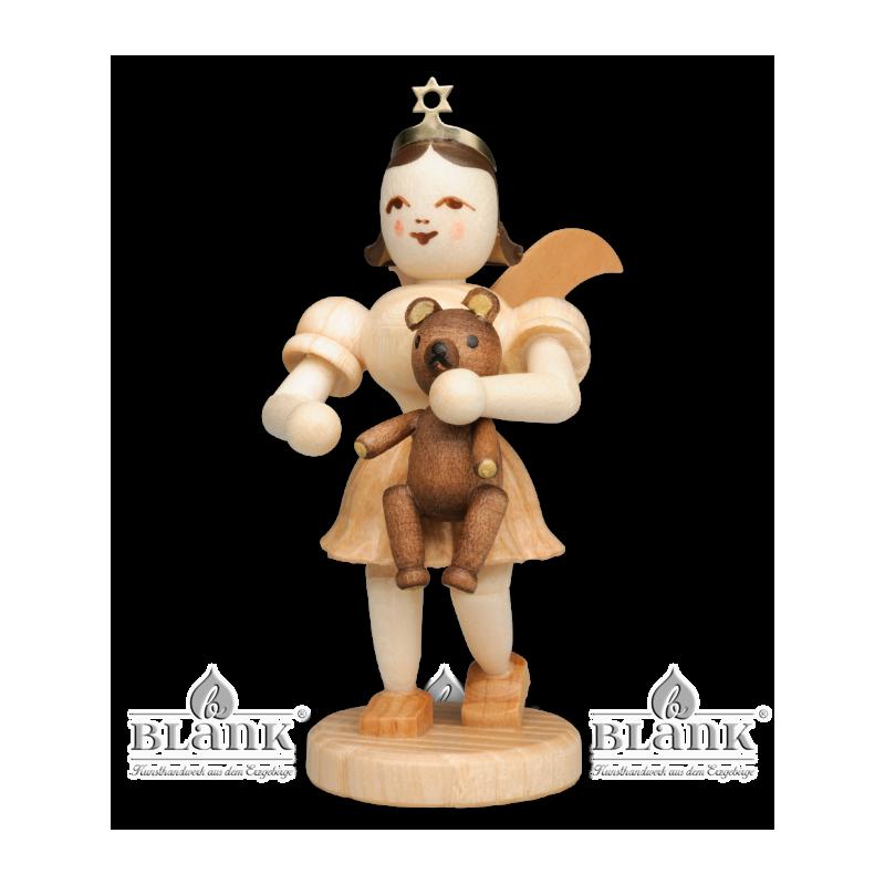 EK-M 010 Angel with Short Pleated Skirt and Teddy Bear