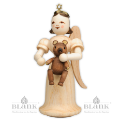 EL-M 010 Angel with Long Robe and Teddy Bear