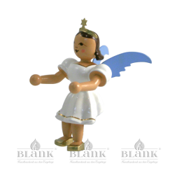 Sitting Angel with Short Pleated Skirt, without stool, coloured