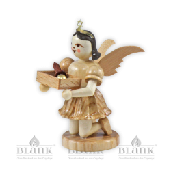 EK-M 007 Kneeling Angel with Short Pleated Skirt and Christmas Decoration