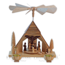 "Pyramid ""Nativity"", tea-light holder"