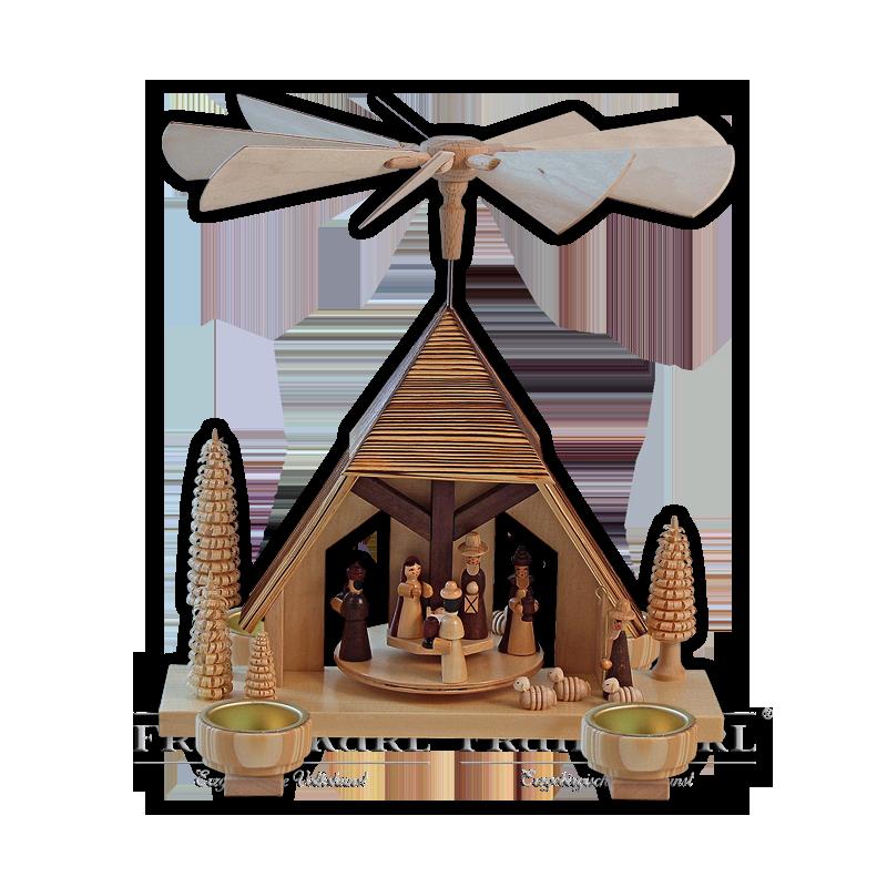 """2210T Pyramide """"Christi Geburt"""" mit Teelichthaltern"""