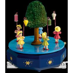 Spieldose mit 5 Laternenkindern, farbig