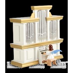 EKF 050-SP Kurzrockengel an der Orgel mit Spielwerk, farbig von Blank Kunsthandwerk, Gruenhainichen