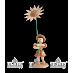BK 009 Blumenkind mit Sonnenblume von Blank Kunsthandwerk, Gruenhainichen