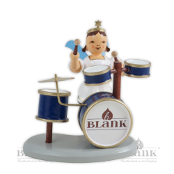 EKF 082 Angel with Short Pleated Skirt and Drums, coloured