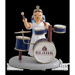 ELF 082 Langrockengel mit Schlagzeug, farbig von Blank Kunsthandwerk, Gruenhainichen
