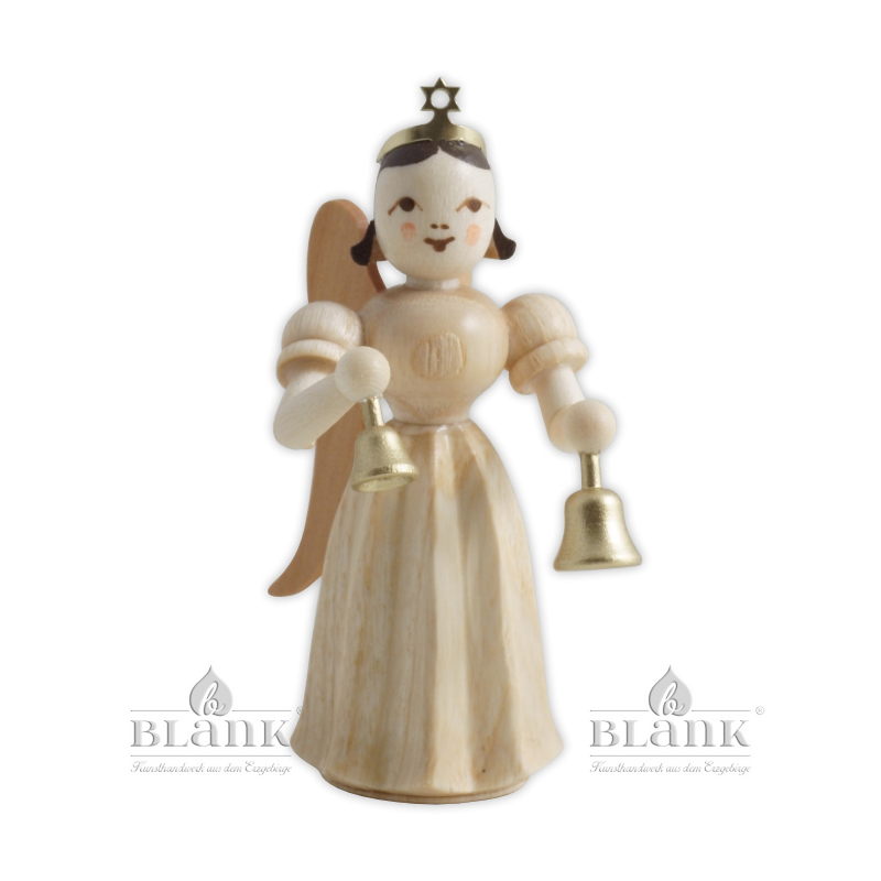 ELN 045 Angel with Long Pleated Robe and Bells