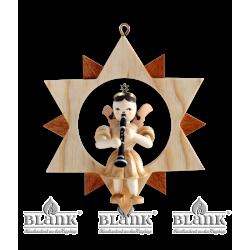 ES 026 Engel im Stern mit Klarinette von Blank Kunsthandwerk, Gruenhainichen