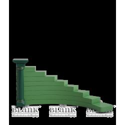 ETG 002 R Engelstufen, grün, rechts von Blank Kunsthandwerk, Gruenhainichen