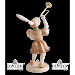 OH 017 Osterhase mit Trompete von Blank Kunsthandwerk, Gruenhainichen