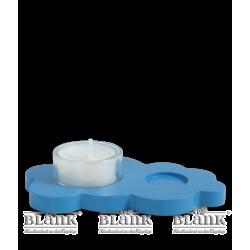 WOF 007T Wolke mit Teelichthalter, farbig von Blank Kunsthandwerk, Gruenhainichen