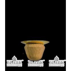 Kerzenhalter (Holz) mit Metalleinsatz f