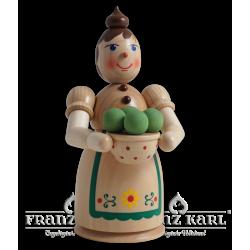 Rauchfrau mit Klößen, natur - 17 cm