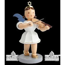 EKFM 011 Kurzrockengel mit Violine, 20 cm, farbig von Blank Kunsthandwerk, Gruenhainichen