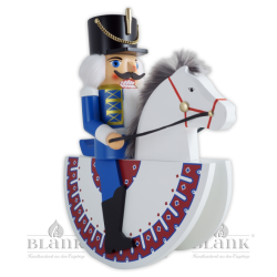 "3025 REIT Nutcracker ""Hussar"" as horseman, blue"
