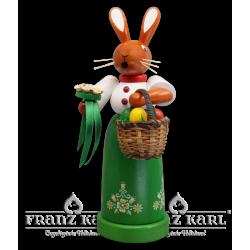 7137 Rauchfigur Hasenfrau von Blank Kunsthandwerk, Gruenhainichen
