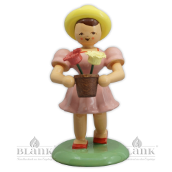 BMF 025 Girl with Flower Pot, coloured