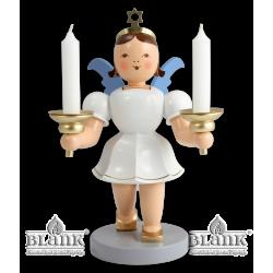 EKFM 024 Kurzrockengel mit Kerzenhalter, 20 cm, farbig von Blank Kunsthandwerk, Gruenhainichen