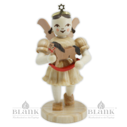 EK-M 008 Angel with Short Pleated Skirt and Rocking Horse