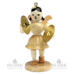 EK 003 Angel with Short Pleated Skirt and Cymbals