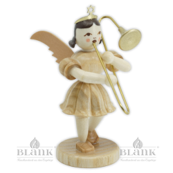 EK 004 Angel with Short Pleated Skirt and Slide Trombone