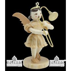 EK 004 Angel with Short Pleated Skirt and Slide Trombone