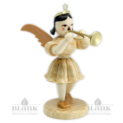 EK 017 Angel with Short Pleated Skirt and Trumpet
