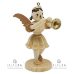 EK 018 Angel with Short Pleated Skirt and Trombone