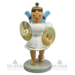 EKF 003 Angel with Short Pleated Skirt and Cymbals, coloured