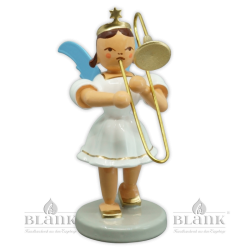 EKF 004 Angel with Short Pleated Skirt and Slide Trombone, coloured