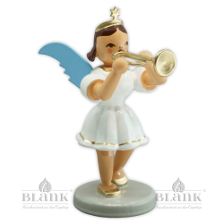 EKF 017 Angel with Short Pleated Skirt and Trumpet, coloured