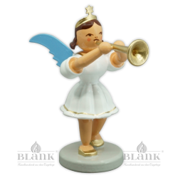 EKF 018 Angel with Short Pleated Skirt and Trombone, coloured