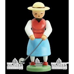 GOF 001 Golfer Sweet Emmy, farbig von Blank Kunsthandwerk, Gruenhainichen