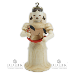 EL-M 008 Angel with Long Robe and Rocking Horse