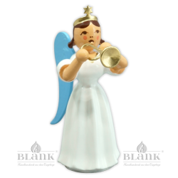 ELF 017 Angel with Long Pleated Robe and Trumpet, coloured