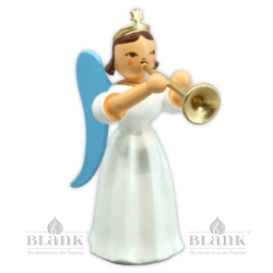 ELF 018 Angel with Long Pleated Robe and Trombone, coloured