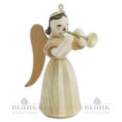 ELN 017  Angel with Long Pleated Robe and Trumpet