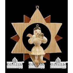 ES 017 Engel im Stern mit Trompete von Blank Kunsthandwerk, Gruenhainichen