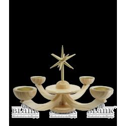 LE 053T Adventsleuchter mit Teelichthalter von Blank Kunsthandwerk, Gruenhainichen